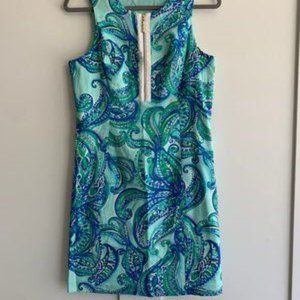 Lilly Pulitzer Front Zip Penelope Shift Dress - 10